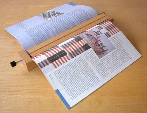Cama para punzonar cuadernillos